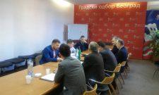 Никодијевић са руководством општинских одбора СПС Звездара и Савски венац