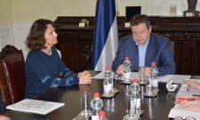 Ivica Dačić sa ambasadorkom Izraela u Beogradu povodom obeležavanje 70 godina od proglašenja Države Izrael i sećanja na važne stogodišnjice za Srbe i Jevreje