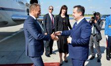 Дачић дочекао председника Европског савета Доналда Туска