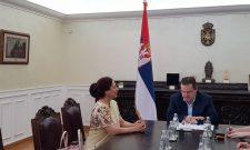 Dačić primio u oproštajnu posetu ambasadorku Republike Indije