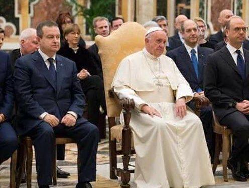 Dačić prisustvovao audijenciji kod Pape Franciska organizovanoj za šefove delegacija učesnika Konferencije OEBS-a