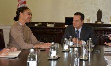 Dačić primio u oproštajnu posetu ambasadorku Brazila