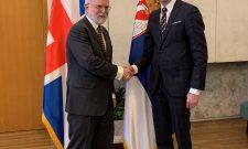 Триван са амбасадором Велике Британије Денисом Кифом