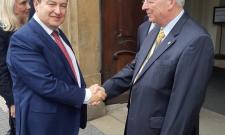 Дачић у посети Парламенту Чешке
