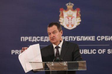 Дачић: Приштини није место на састанку у Хелсинкију, ништа од споразума нису испоштовали