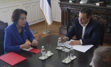Дачић разговарао са амбасадорком Кине