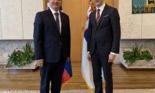 Триван са амбасадором Републике Словеније Изтоком Јарцом