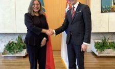 Триван са амбасадорком Републике Португал