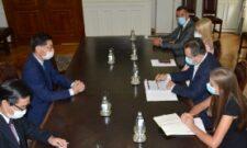 Ивица Дачић примио је у опроштајну посету амбасадора Јапана