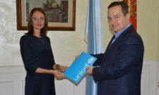 Дачић разговарао са новоименованом директорком представништва УНИЦЕФ-а у Србији