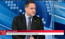 Гостовање Бранка Ружића на РТС: Већ 2022. нови уџбеници из идентитетских предмета