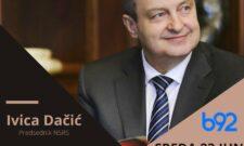"""Ивица Дачић биће гост емисије """"Фокус"""", 23. јуна од 16.40 ч на ТВ Б92"""