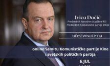 Најава: Ивица Дачић данас ће у 14.30ч учествовати на онлајн Самиту Комунистичке партије Кине и светских политичких партија